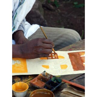 Ethiopian painting on goatskin